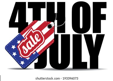 Fourth of July sale icon EPS 10 vector.
