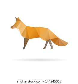 Fox abstract isolated on a white backgrounds