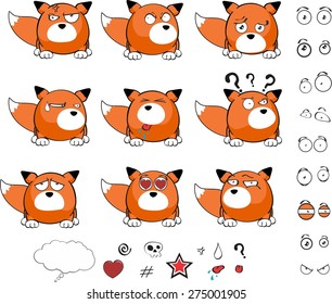 fox baby ball cartoon set in vector format very easy to edit