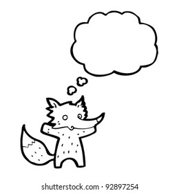 fox cartoon with speech bubble