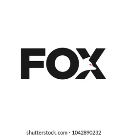 Fox creative logo vector. Fox icon.