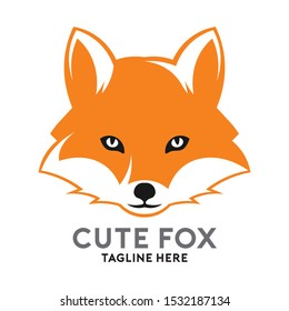 Fox face vector logo in two color, good for Fashion brand, Clothing Business