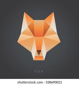 fox geometric vector illustration
