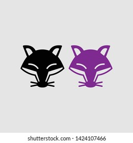 fox head icon color and black