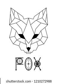 Fox head logo design vector geometric polygon abstract