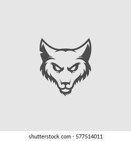 Fox head logo template design. Vector illustration.