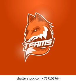 fox head mascot logo