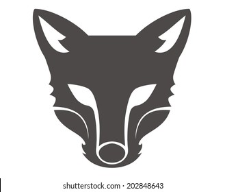 fox head silhouette