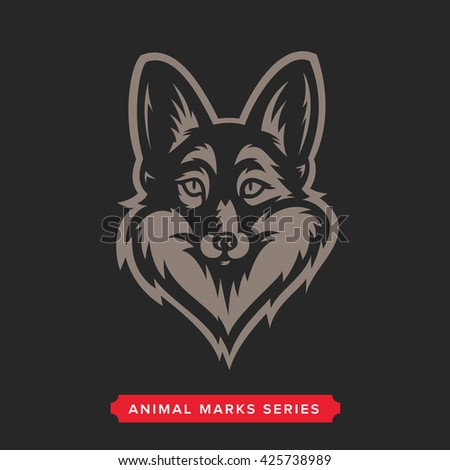 ddb766bc53f04d Fox Head Symbol. Great for Badge Label Sign Icon Logo Design. Quality Fox  Emblem. Premium Retro Style Drawing. Hand crafted Vector illustration.