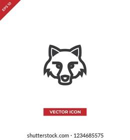 Fox head vector icon