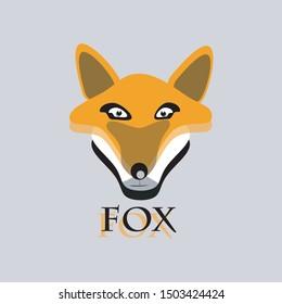 fox head vector illustration. Cute fox vector animal