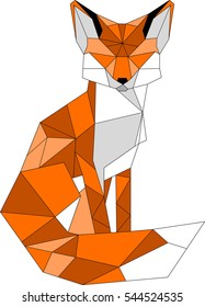 Fox. illustration. symbol, logo, emblem
