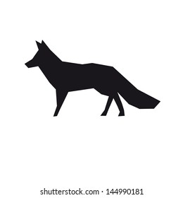 Fox isolated on a white backgrounds