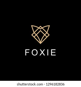 fox line geometric logo design