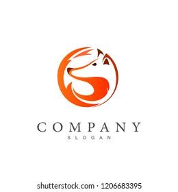fox logo, circular fox logo , application icon