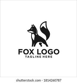 fox logo design icon silhouette