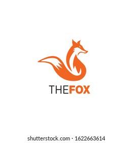 Fox logo design icon vector illustration template