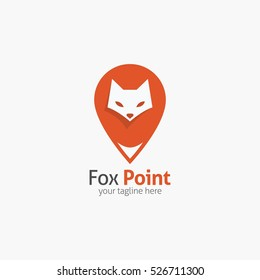 Fox Logo design template. Vector Illustration
