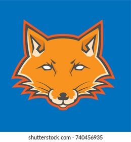 fox logo head mascot vectors.