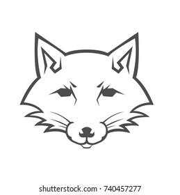 fox logo head mascots vectors