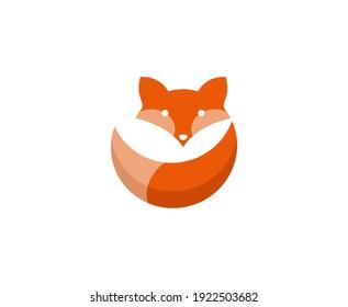 Fox logo tail vector icon