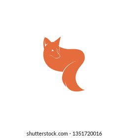 Fox logo template. Logo template vector. Wild animal logo template