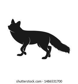 Fox Logo Vector. Animal Coyote Logo Design Template Illustration