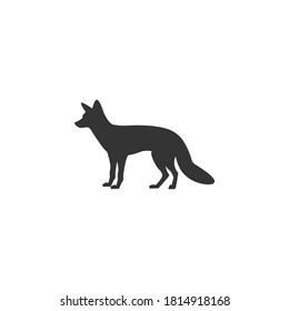 Fox silhouette vector on a white background