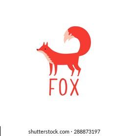 Fox symbol - vector illustration.