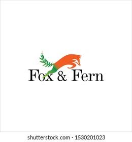 fox tail fern logo design