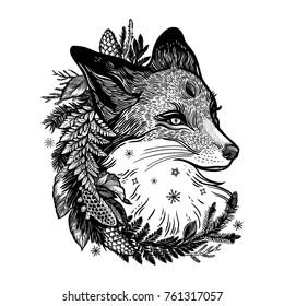 Tribal Kitsune Tattoo
