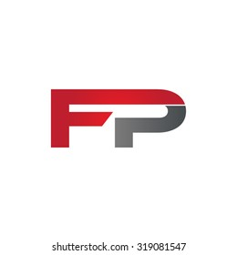 FP company group linked letter logo