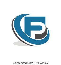FP logo, PF logo initial letter design template vector illustration