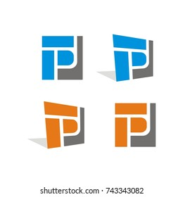 FP, P logo design template vector