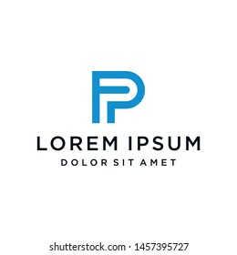 FP PF Logo Monogram Icon Vector Template