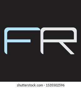 FR Abstrac logo vector Monogram isolated on black background