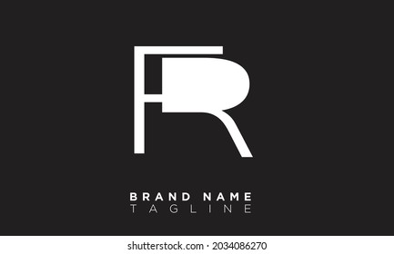 FR Alphabet letters Initials Monogram logo RF, F and R