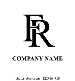 FR Company initial logo design