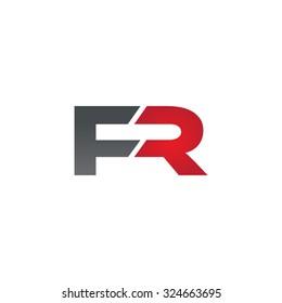 FR company linked letter logo