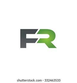 FR company linked letter logo green