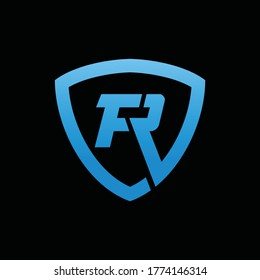 FR initial logo inspiration for security business