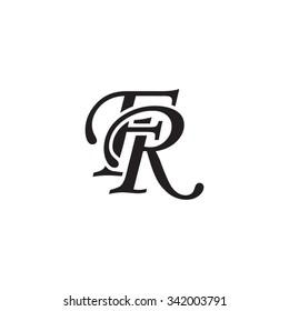 FR initial monogram logo