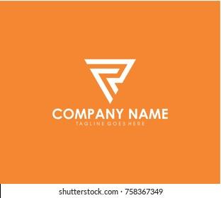 FR initial triangle logo design