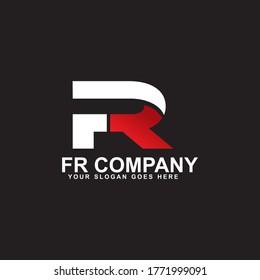 FR letter initial logo design vector template