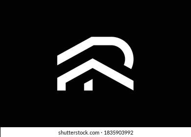 FR letter logo design on luxury background. RF monogram initials letter logo concept. FR icon design. RF elegant and Professional letter icon design on black background. F R FR RF