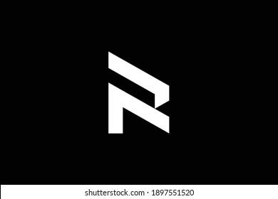 FR letter logo design on luxury background. RF monogram initials letter logo concept. FR icon design. RF elegant and Professional white color letter icon on black background.
