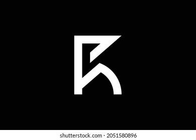 FR letter logo design on luxury background. RF monogram initials letter logo concept. FR icon design. RF elegant and Professional white color letter icon design on black background.