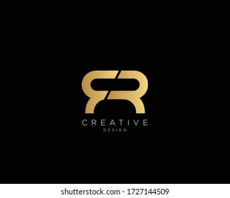 FR Logo Design , Creative Minimalist Letter FR Logo Design