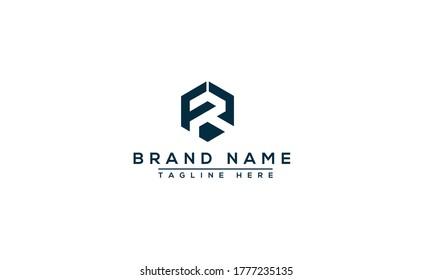FR Logo Design Template Vector Graphic Branding Element.