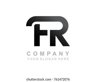 FR logo letter design vector